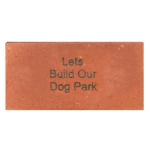 4x8 brick with 3 lines of text